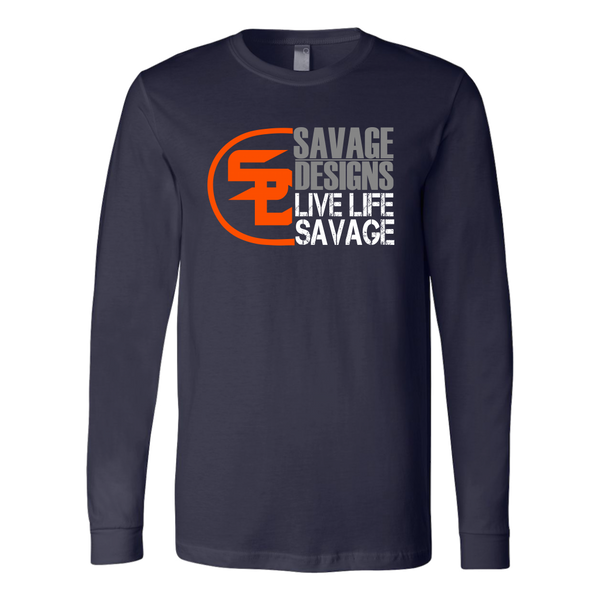 Savage Designs Sliced Up Orange/Grey/White Long Sleeve- 9 Colors
