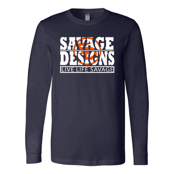 The Savage Within White/Orange Long Sleeve- 11 Colors