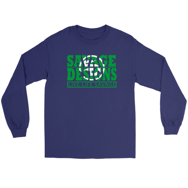The Savage Within Green/White Long Sleeve- 8 Colors