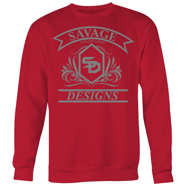 Savage Designs Diamond Floral Grey Sweatshirt- 8 Colors