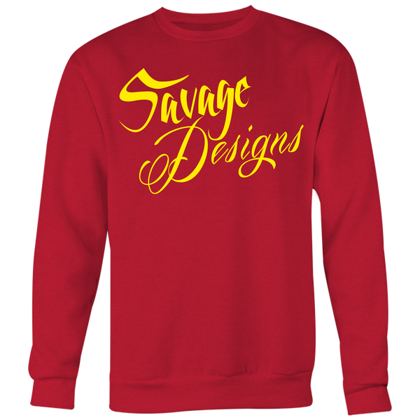 Savage Designs Cursive Script Yellow Sweatshirt- 8 Colors