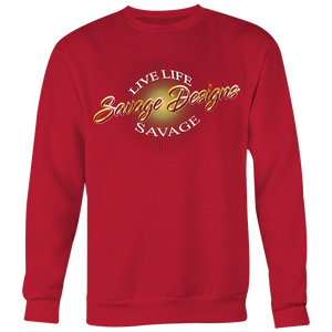 Savage Designs Sunray Flare Maroon and Gold Sweatshirt- 11 Colors