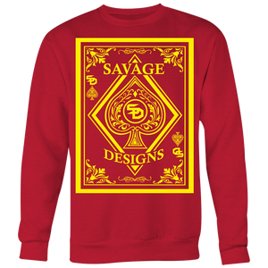 Savage Designs Ace of Spade Yellow Sweatshirt- 8 Colors