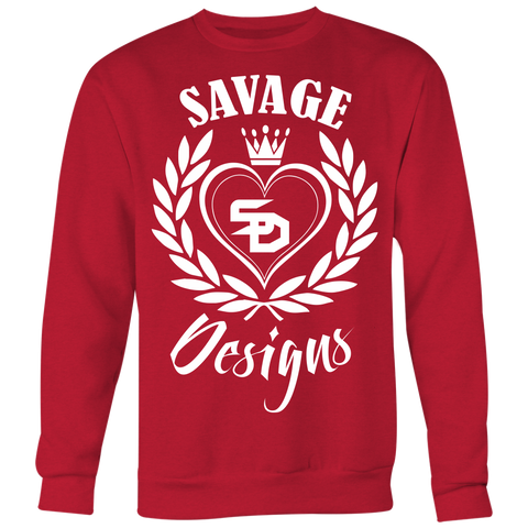 Savage Designs Heart of Hearts White Sweatshirt- 8 Colors
