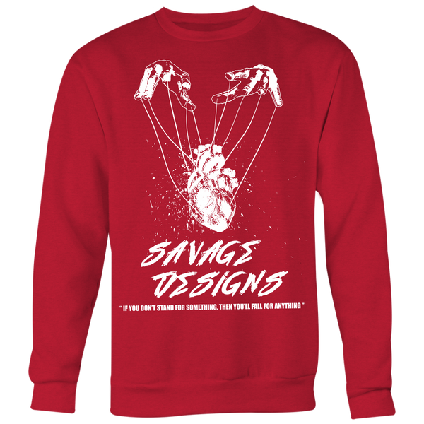Savage Designs Heart Strings White Sweatshirt- 8 Colors