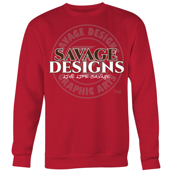 Savage Designs Faded Symbol Brown/White/Grey Sweatshirt- 7 Colors