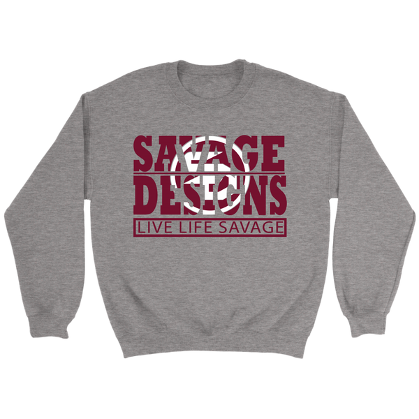 The Savage Within Maroon/White Sweatshirt- 4 Colors