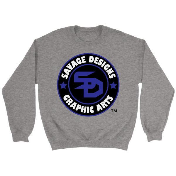 Savage Designs Symbol Patch Royal Blue/Black/White Sweatshirt- 5 Colors