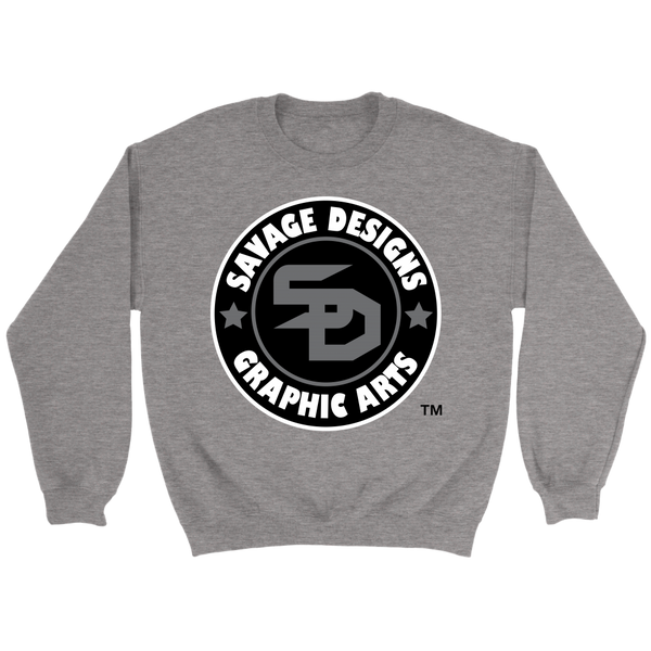 Savage Designs Symbol Patch Black/Grey/White Sweatshirt Color #2- 6 Colors