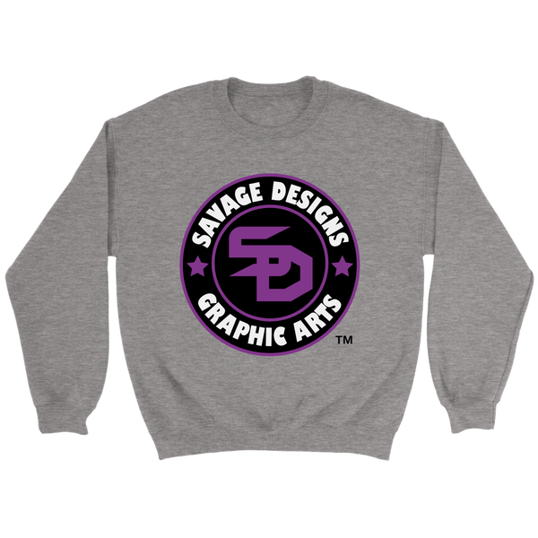 Savage Designs Symbol Patch Purple/Black/White Sweatshirt- 6 Colors
