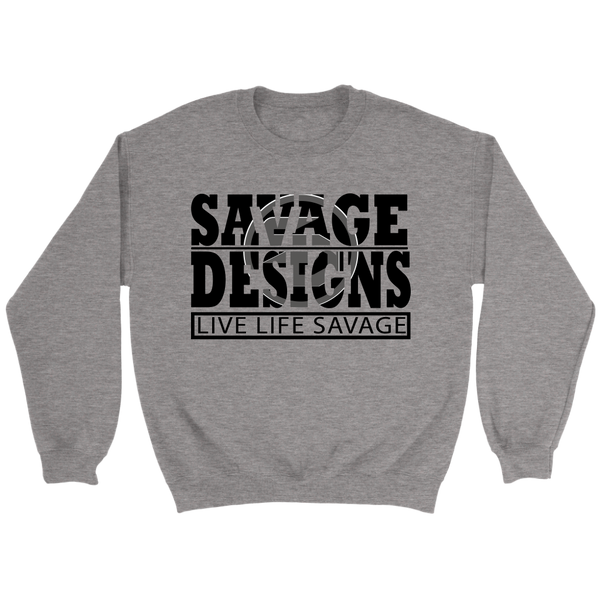 The Savage Within Black/Grey Sweatshirt- 8 Colors