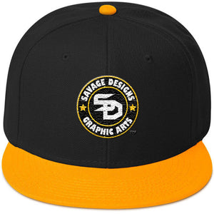 Savage Designs Snapback Black/Gold/White- 4 Colors