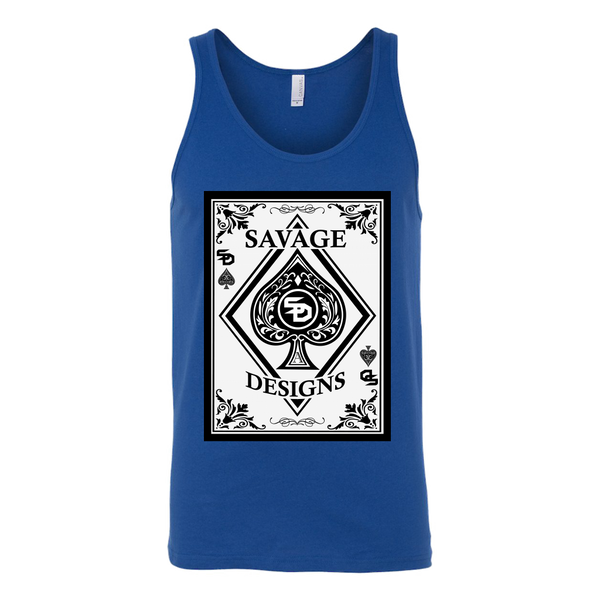 Savage Designs Ace of Spade White/Black Tank Top- 7 Colors