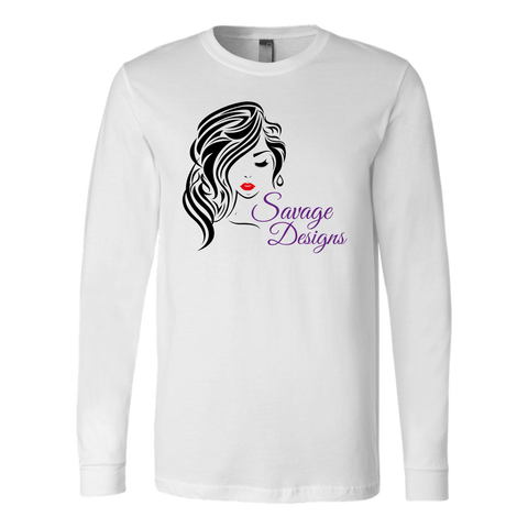 Savage Designs Women's Beauty Black/Red/Purple Long Sleeve- 3 Colors