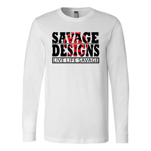 The Savage Within Black/Red Long Sleeve- 10 Colors