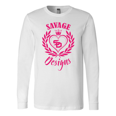Savage Designs Heart of Hearts Hot Pink Long Sleeve- 8 Colors