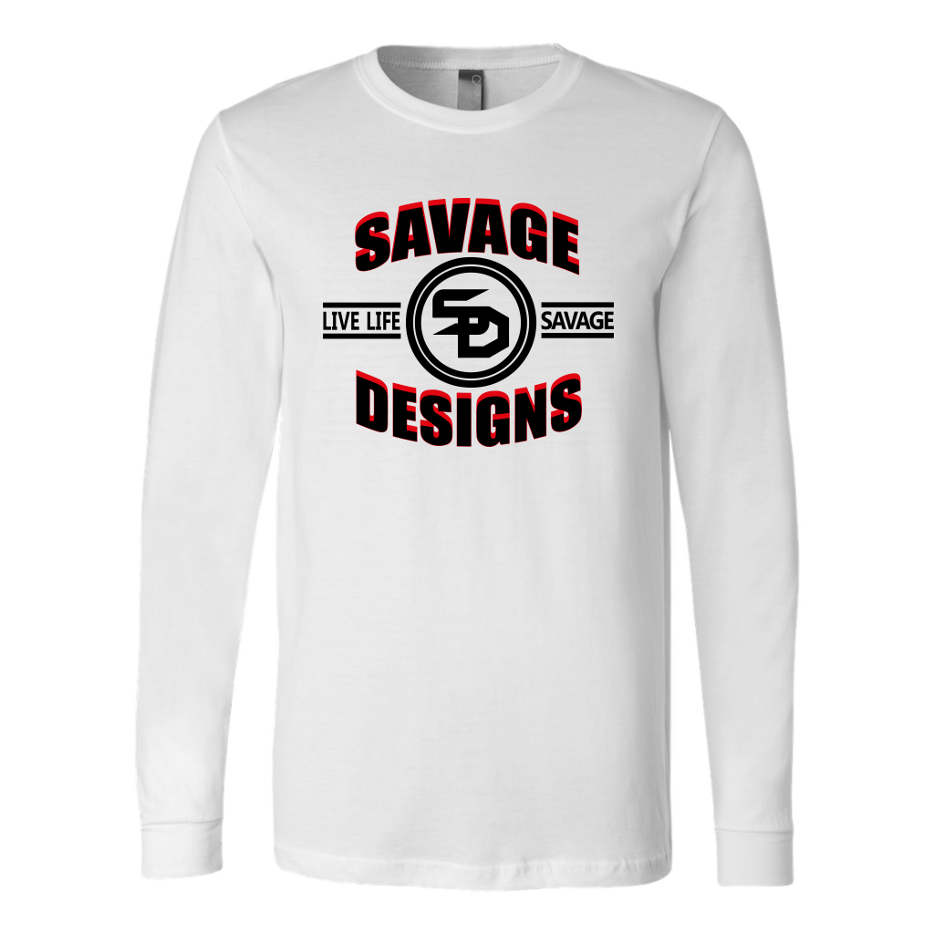 Savage Designs Dead Focus Black/Red Long Sleeve- 5 Colors