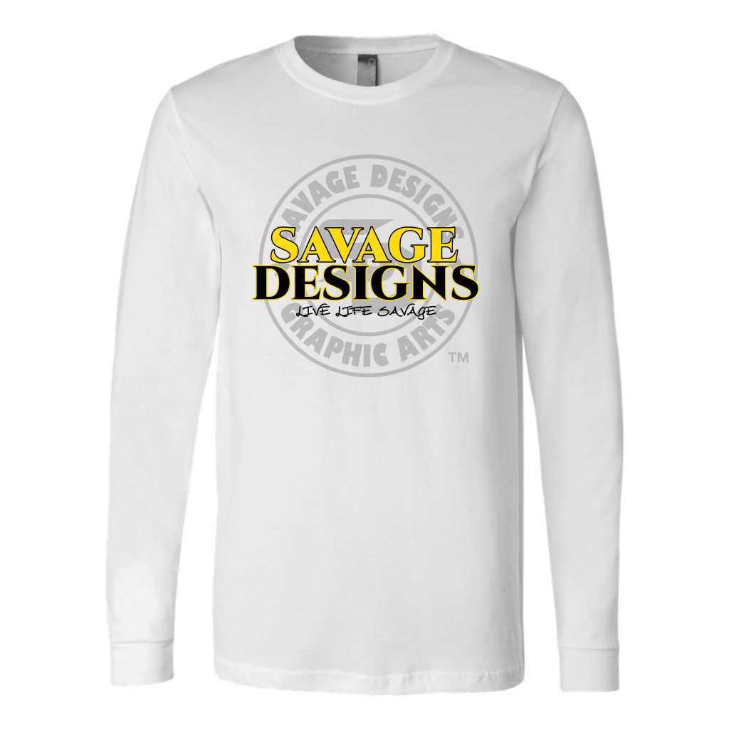Savage Designs Faded Symbol Yellow/Black/Grey Long Sleeve- 8 Colors