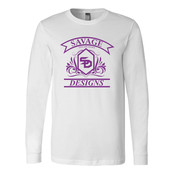 Savage Designs Diamond Floral Purple Long Sleeve- 8 Colors