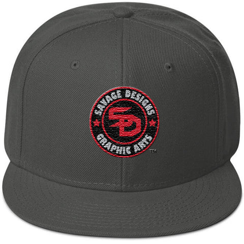 Savage Designs Snapback Black/Grey/Red- 2 Colors
