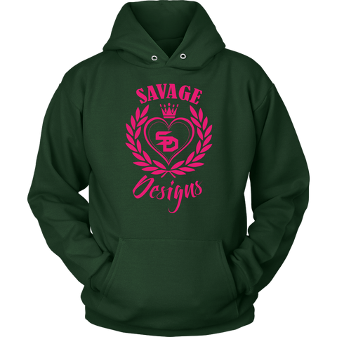 Savage Designs Heart of Hearts Hot Pink Hoodie- 8 Colors