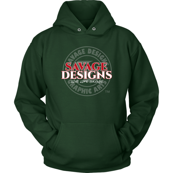 Savage Designs Faded Symbol Red/White/Grey Hoodie- 7 Colors