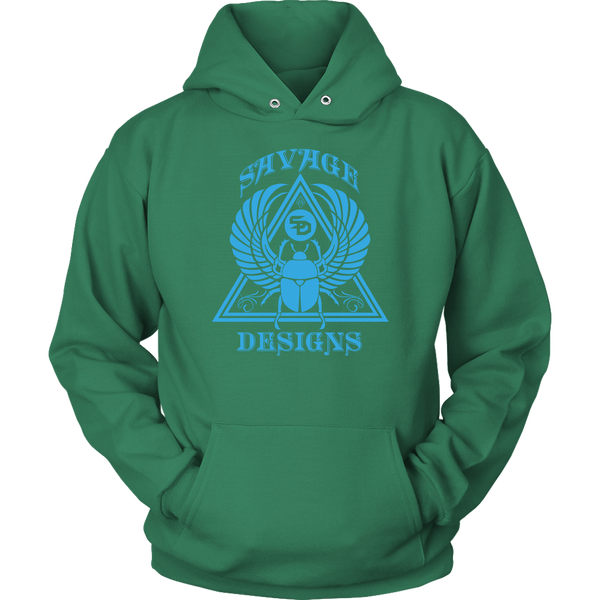 Savage Designs Eygptian Scarab Bettle Turquoise Hoodie- 8 Colors