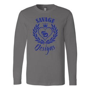 Savage Designs Heart of Hearts Royal Blue Long Sleeve- 8 Colors