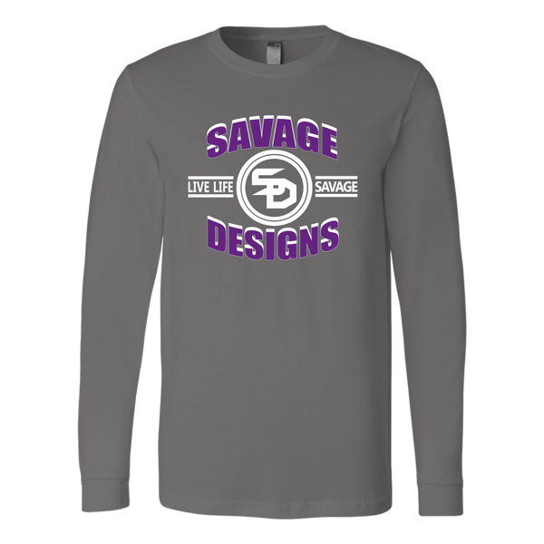 Savage Designs Dead Focus Purple/White Long Sleeve- 10 Colors