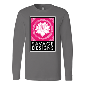 Savage Designs Lotus Flower Hot Pink/White/Black Long Sleeve- 9 Colors