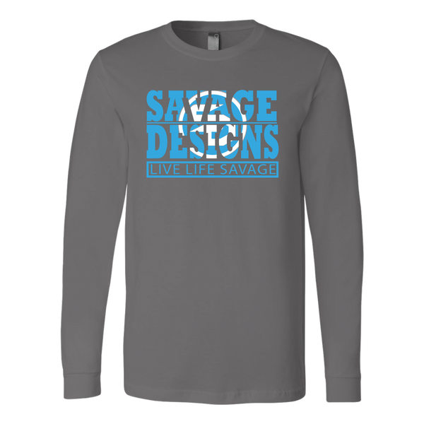 The Savage Within Cyan/White Long Sleeve- 9 Colors