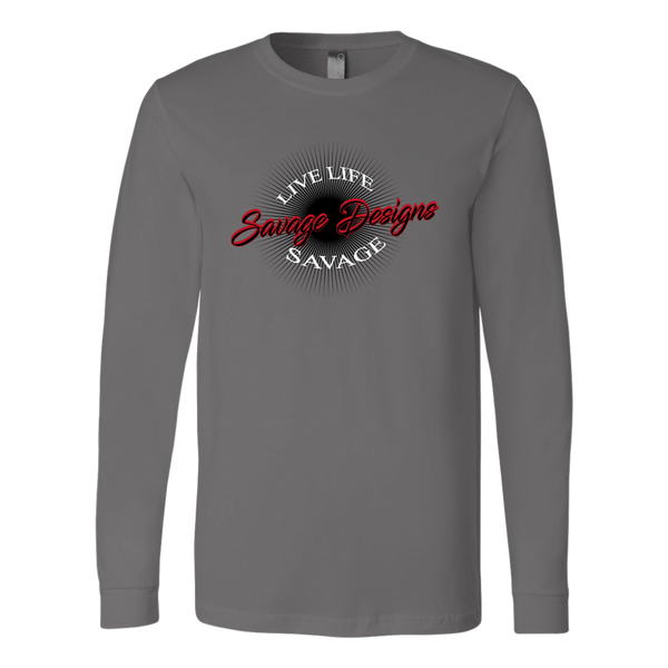 Savage Designs Sunray Flare Black and Red Long Sleeve- 9 Colors