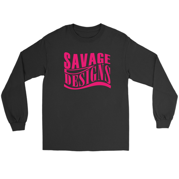 Savage Designs Warped Curve Hot Pink Long Sleeve- 9 Colors