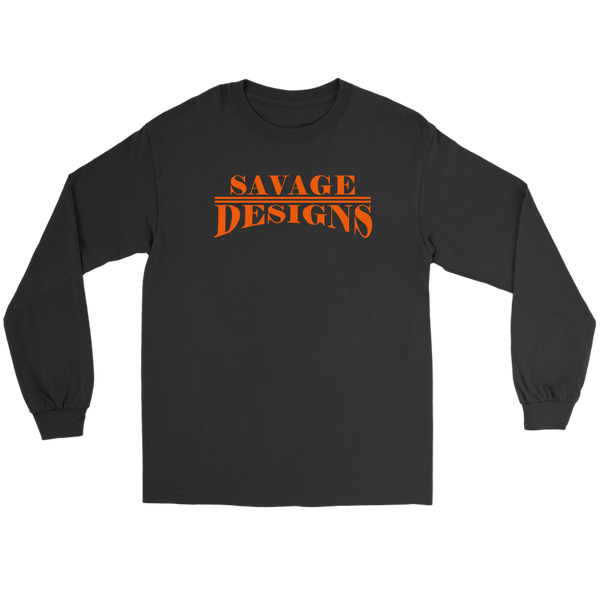 Savage Designs Classic Modern Orange Long Sleeve- 9 Colors