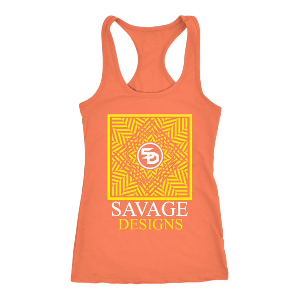 Savage Designs Optical Illusion Yellow/White Tank Top- 11 Colors