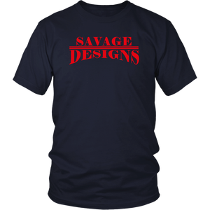 Savage Designs Classic Modern T-shirt Red- 8 Colors