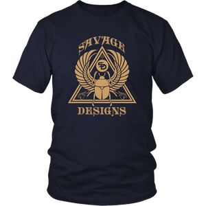 Savage Designs Eygptian Scarab Beetle T-Shirt Tan- 10 Colors