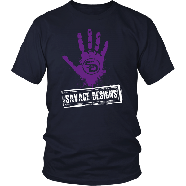 Savage Designs Handprint Stamp Purple/White- 7 Colors