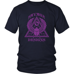 Savage Designs Eygptian Scarab Beetle T-Shirt Purple- 8 Colors