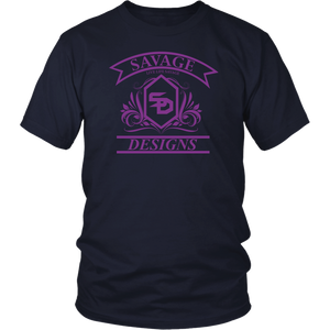 Savage Designs Diamond Floral T-shirt Purple- 8 Colors