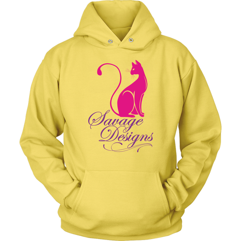 Savage Designs Lady Kitten Hot Pink/Purple Hoodie- 4 Colors