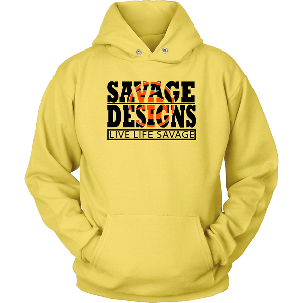The Savage Within Black/Orange Hoodie- 8 Colors