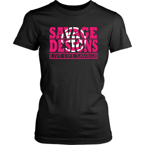 The Savage Within Hot Pink/White- 7 Colors