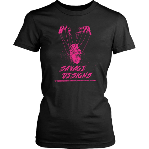 Savage Designs Heart Strings Hot Pink- 7 Colors