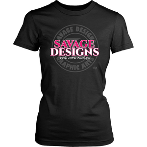 Savage Designs Faded Symbol Hot Pink/White/Grey- 8 Colors