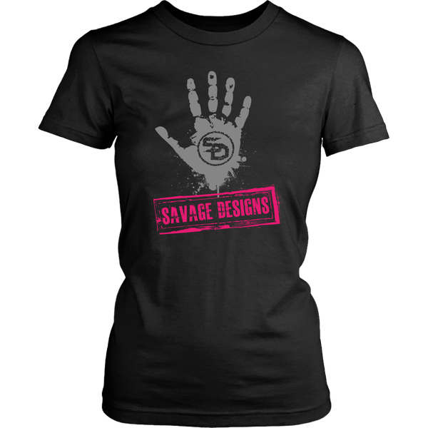 Savage Designs Handprint Stamp Grey/Hot Pink- 7 Colors