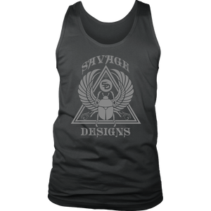 Savage Designs Eygptian Scarab Bettle Grey Tank Top- 9 Colors