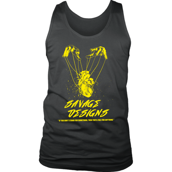 Savage Designs Heart Strings Yellow Tank Top- 11 Colors