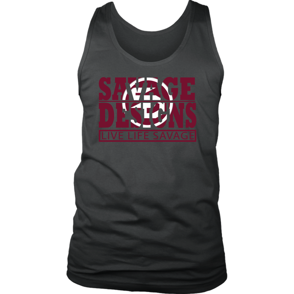 The Savage Within Maroon/White Tank Top- 4 Colors