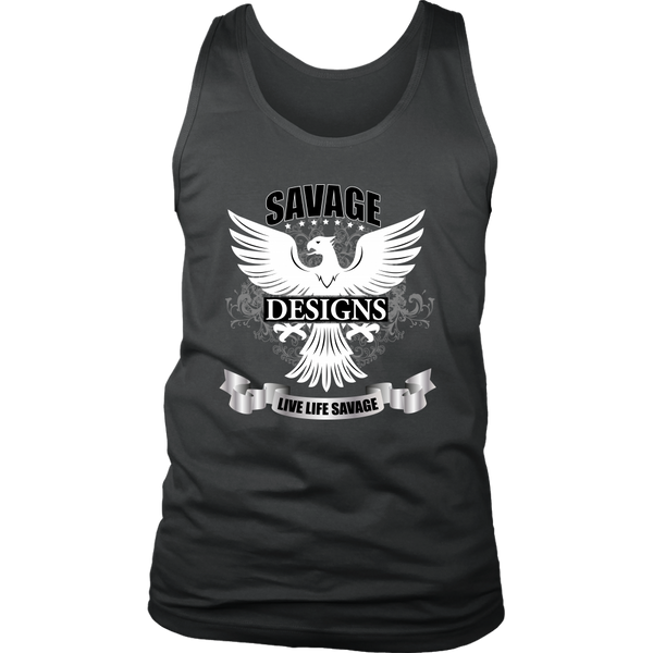 Savage Designs Screeching Falcon Tank Top- 14 Colors